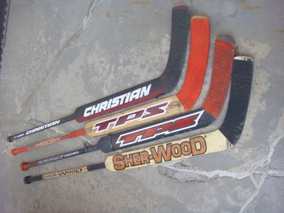ICE HOCKEY GOALIE STICKS 4 TO CHOOSE FROM
