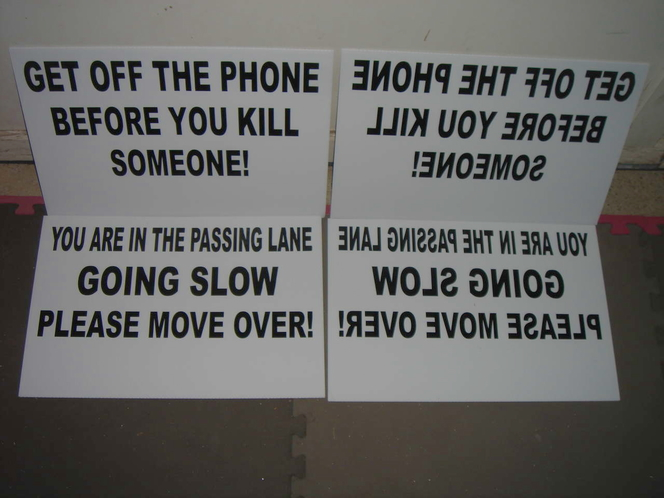 ROAD RAGE MANAGEMENT SIGNS DONT GET MAD COMMUNICATE! for sale in Millcreek , UT