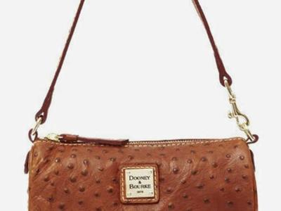 Dooney & Bourke Mini Barrel Ostrich Handbag/Purse