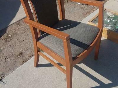 solid wood padded chairs arm rest - office dinning