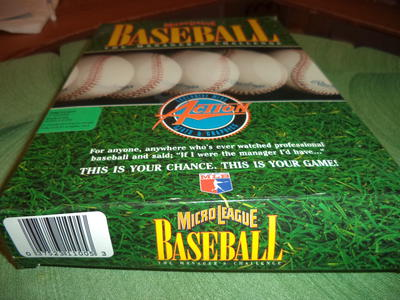 Micore League Baseball The Manager's challenge New in box