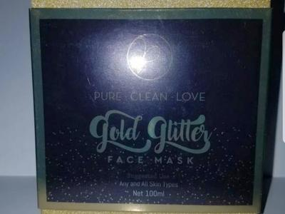Hydrating Gold Face Mask Glitter Stars