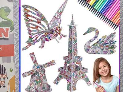 3d Coloring Puzzles with Markers New