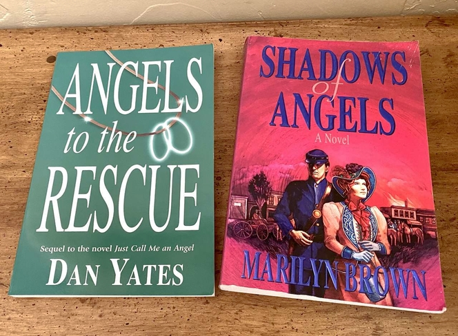 TWO NEW Books About Angels - Value Over $20 - Dan Yates - Marilyn Brown -  Please See Photos for sale in South Jordan , UT