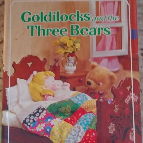 Vintage GOLDILOCKS & THREE BEARS Puppet Storybook  for sale in West Jordan , UT