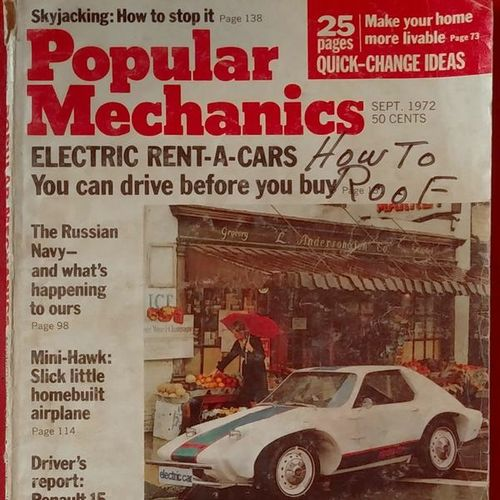 Popular Mechanics Magazine Sept.1972 Electric Car  for sale in West Jordan , UT