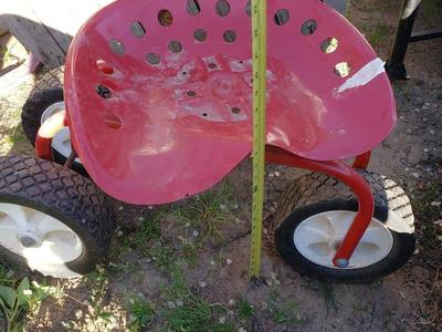Portable Chair on Wheels to Garden or Use Weeding