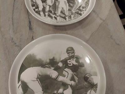 Football plates - Pottery Barn vintage