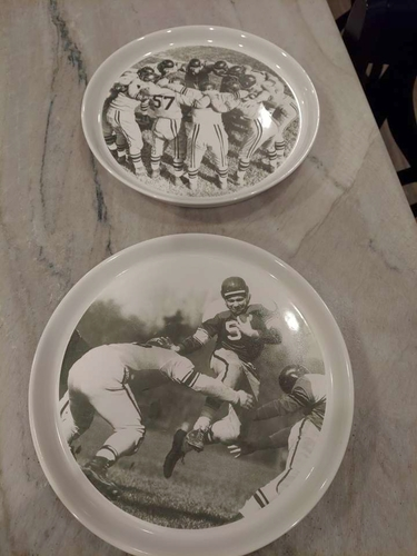 Football plates - Pottery Barn vintage for sale in Holladay , UT