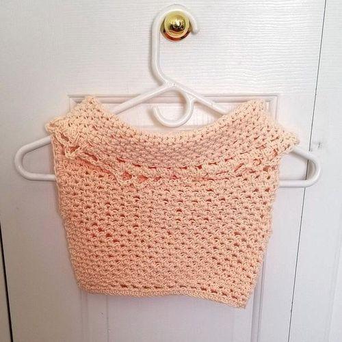 Girl's Crocheted Pink Cowl Neck Top for sale in West Jordan , UT