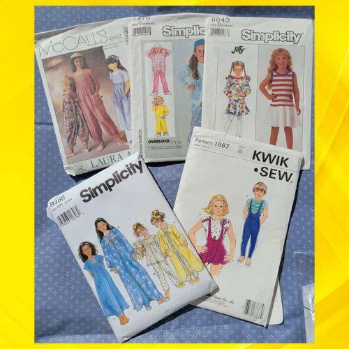 5 Girl's Size 3-6X Patterns for sale in West Jordan , UT