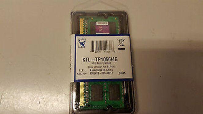 2 New Kingston 4GB KTL-TP1066/4G Laptop Mem DDR3 for sale in Kaysville , UT