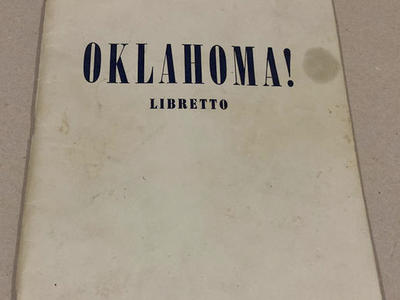 Vintage Script 1943 Edition of the Play Oklahoma!