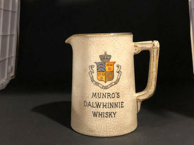 "Vintage Munro's Dalwhinnie Whisky 4"" Pitcher Mug"
