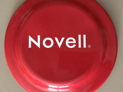 Novell Logo Red Frisbee Toy
