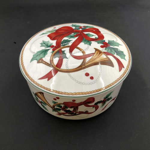 Mikasa French Horn & Holly Christmas Candy Dish for sale in Orem , UT