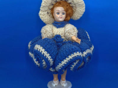 Vintage Plastic Doll Blue Eyes Open Close