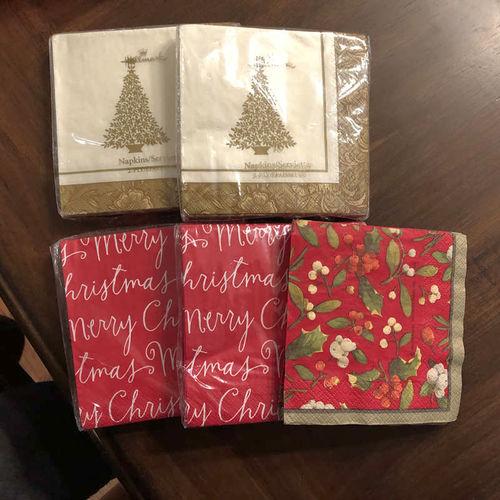 4 Packs of Christmas Paper Napkins, 16 pack Small for sale in Orem , UT