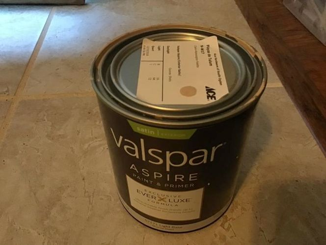 Valspar Aspire Exterior Satin Paint & Primer Quart for sale in Ogden , UT