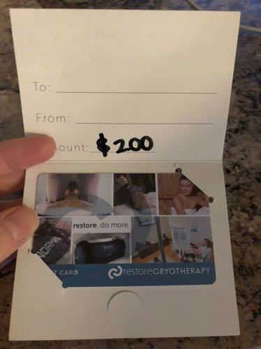 $200 Restore Cryotherapy Gift card for sale in Ogden , UT
