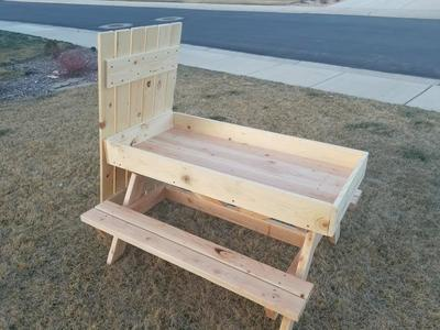 Kids Picnic Table and Sandbox *Free Delivery
