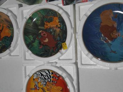 Lion king collection plates