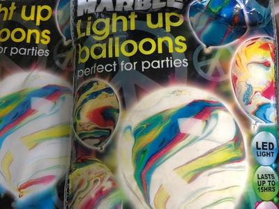 New Marble Light Up Balloons