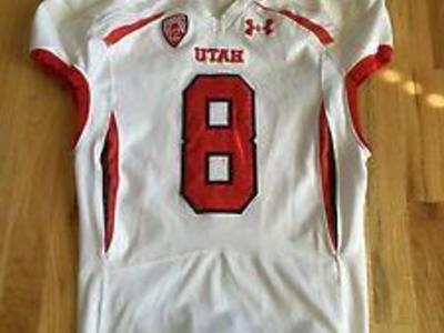 Buying Utah Football game worn Jerseys Helmets ect
