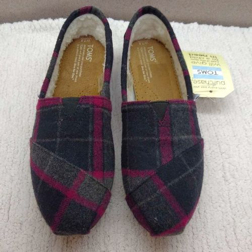 Tom's Women's Classics Pink Paid Wool Sz 7.5 for sale in Ogden , UT