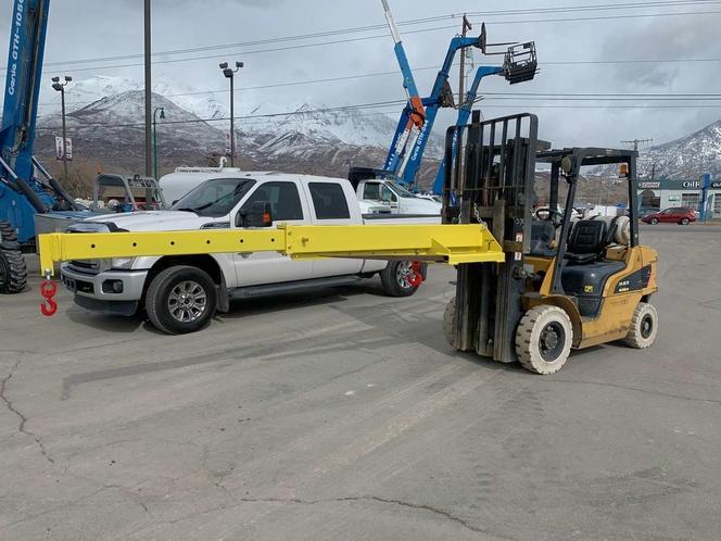 NEW UNUSED Truss Jib Crane 2021 Universal Fit for Telehandler Forklift 6,000 LB 12' Extension for sale in Orem , UT