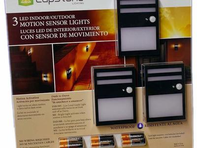 Capstone 3pk LED Motion Sensor Lights 1600106