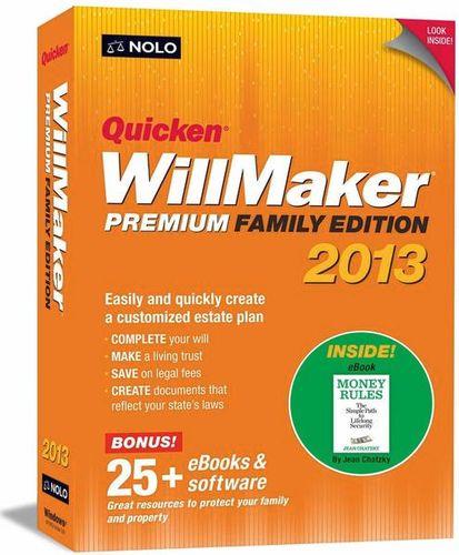 Quicken Will Maker Family Ed. 2013 for sale in Orem , UT