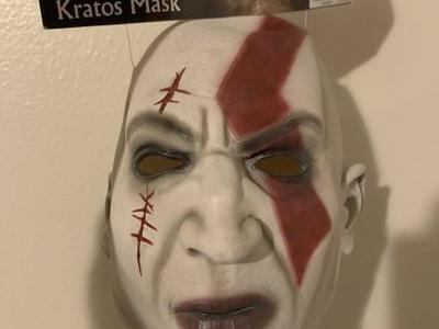 Rare Kratos God Of War Halloween Mask