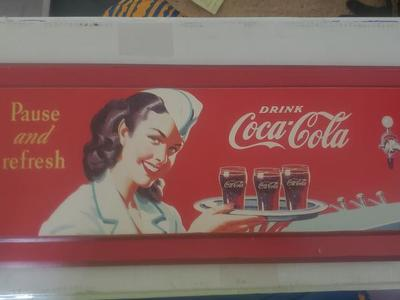 COCA-COLA WALL HANGING 15 1\2 X 6 1\4 INCH WOOD