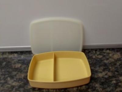 Tupperware two compartment container