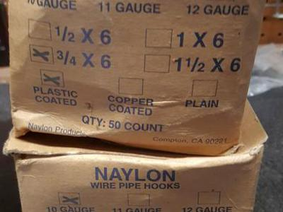 Naylon 3/4 x 6 in. 10 Gauge Steel Wire Pipe Hook