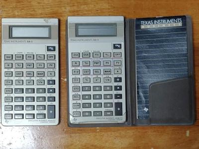 Vintage Texas Instruments BA-II Executive Business Analyst Calc