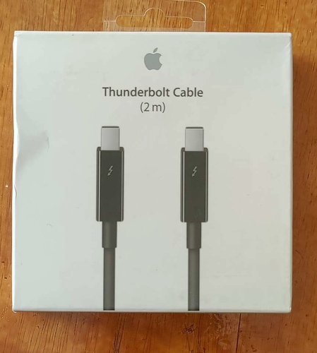 Apple Thunderbolt Cable 2.0 m Black (MF639ZM/A) Brand New for sale in Heyburn , ID