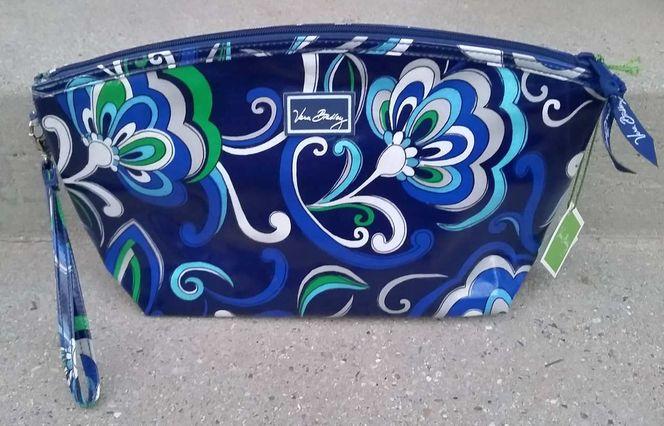 NEW Limited Ed. VERA BRADLEY Mediterranean Blue Grande Cosmetic Bag for sale in Sandy , UT