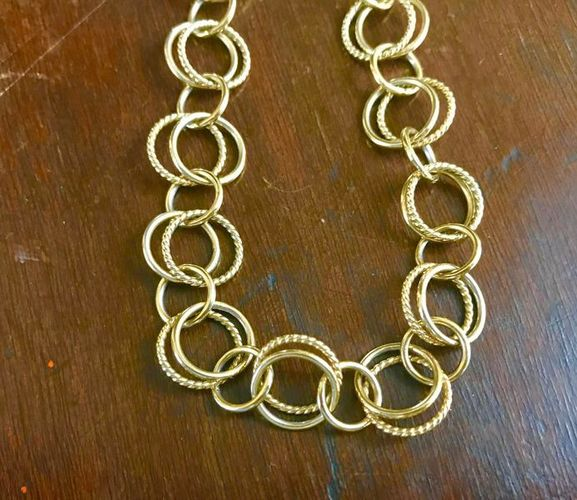 Gold Plated Rings 19 1/2 Inch Necklace for sale in Salt Lake City , UT