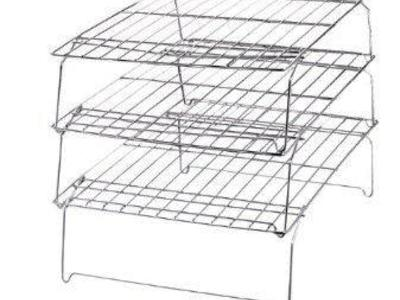 Bakers Cooling Rack Set Stackable 10-Inch by 14-In