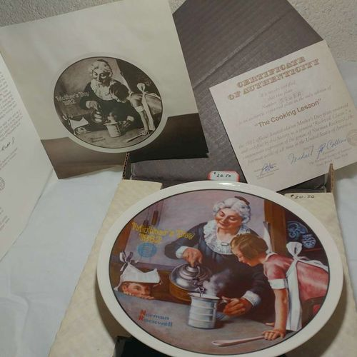 Collectible Plate The Cooking Lesson Norm Rockwell for sale in Ogden , UT