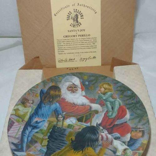 Collectible Plate Santa's Joy Perillo for sale in Ogden , UT