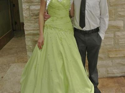 Green prom or Quinceanera dress
