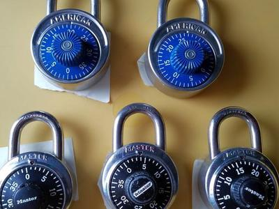 Combination Padlocks like NEW Great for School Gym