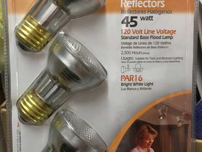 Halogen Reflectors 3-pack 45 PAR 16 - NEW
