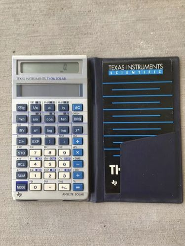 Vintage Texas TI-36 Solar Calculator with Case and Reference Guide for sale in South Jordan , UT