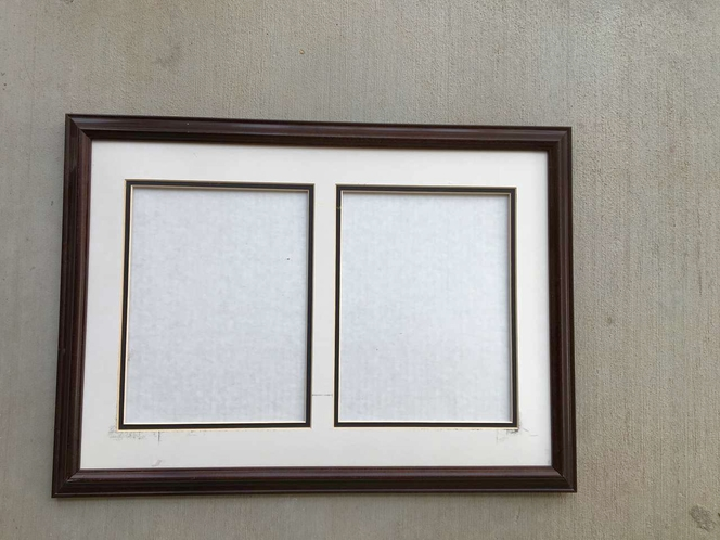 Wood Frame Matted Double Picture 22