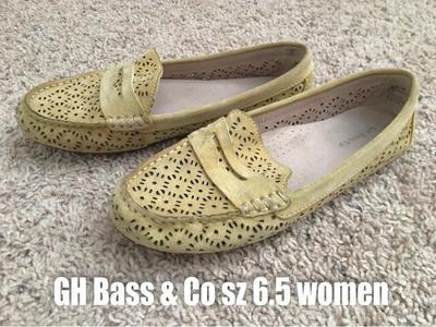 GH BASS & CO YELLOW LOAFERS Slip-on Size 6.5 Women