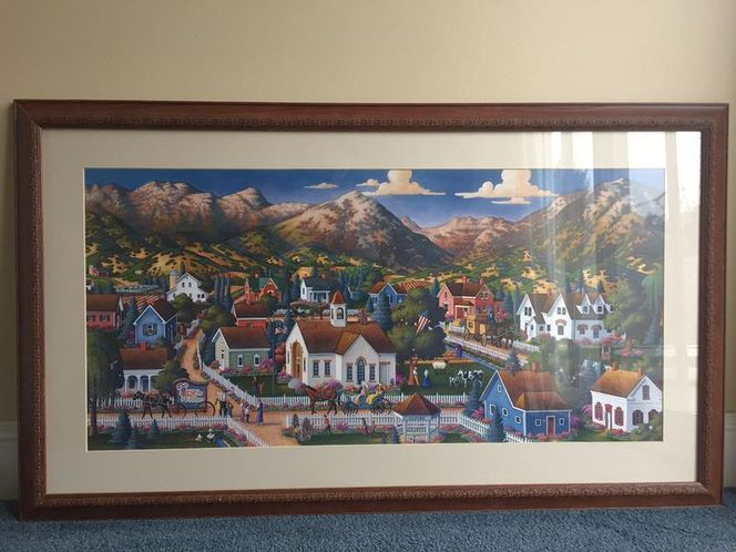 Eric Dowdle print, ALPINE SUMMER , s/n AP, framed for sale in Alpine , UT
